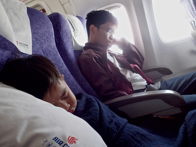 Sleeping in the plane