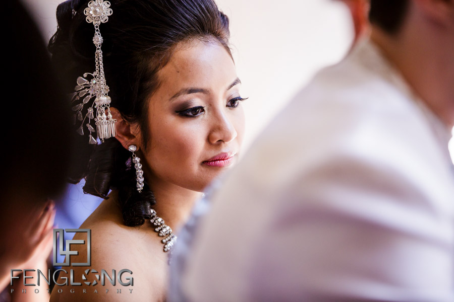 Cambodian bride during Buddhist ceremony