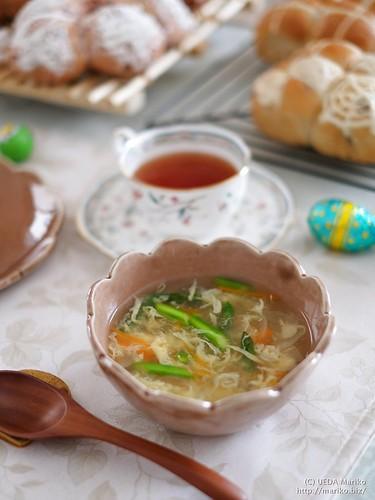 えびと春野菜のスープ 20170324-DSCT4623-1