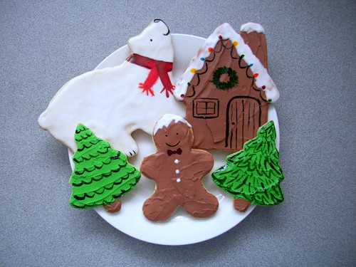 Hand-painted Christmas Cookies