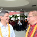 UH System Interim President David Lassner with UH Hilo Chancellor Donald Straney at the dedication of Hale'ōlelo, the new home of the UH Hilo Ka Haka 'Ula O Ke'elikōlani College of Hawaiian Language.