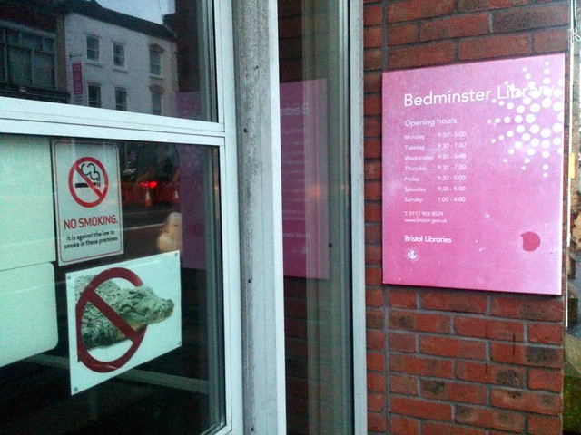 No crocs allowed in the Bedminster Library!