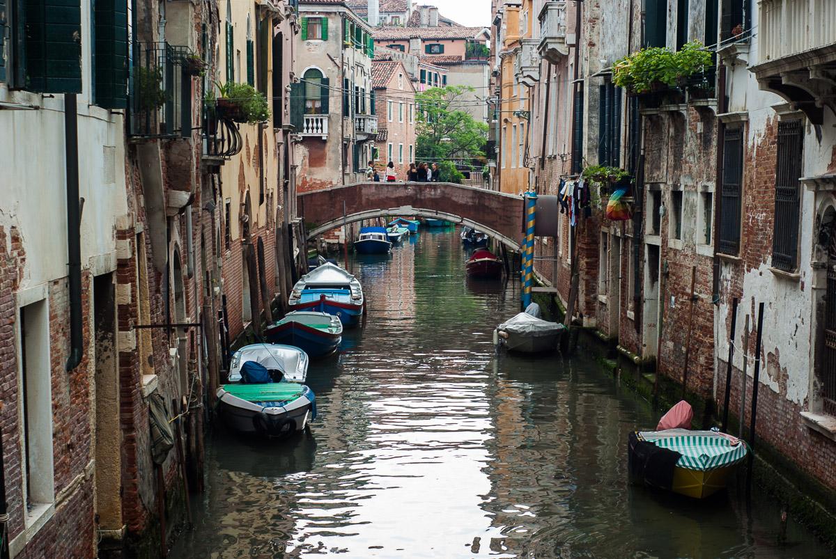 Canales en el sestiere del Castello