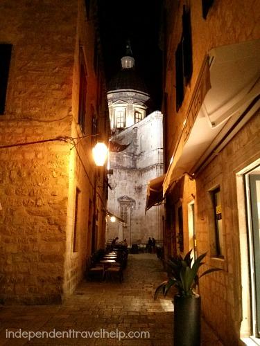Dubrovnik side street restaurant