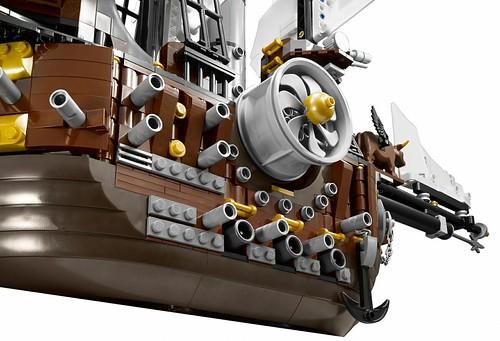 The LEGO Movie 70810 MetalBeard's Sea Cow features 4
