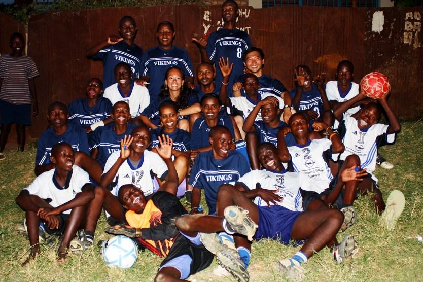 Heather and the EDD soccer team.