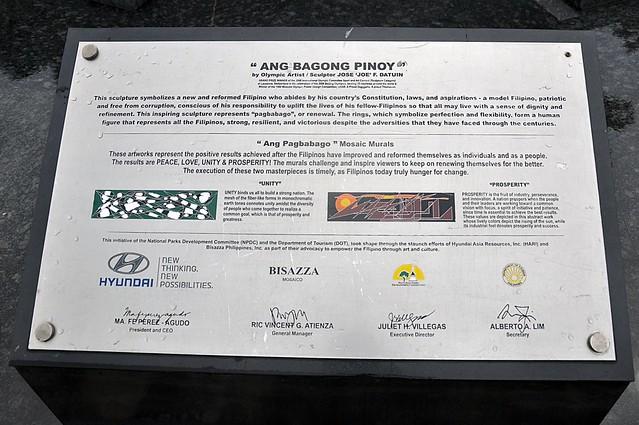 Ang Bagong Pinoy sculpture marker