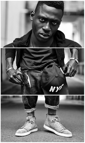 #48 Triptych Portrait Series - Seun @ Cliche by bang*
