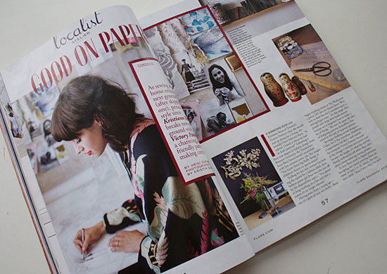 Sewing in Canada's Flare Magazine