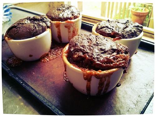 molten Duche de Leche cakes