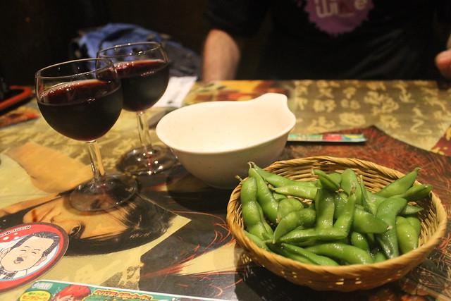 Comida japonesa: edamame