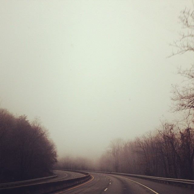Latergram of the foggy Blue Ridge.