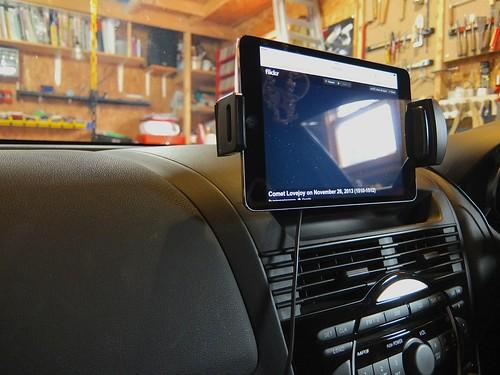 iPad mini in Mazda RX-8