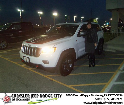 Happy Anniversary to Elizabeth Roberts on your 2013 #Jeep #Grand Cherokee from David Walls  and everyone at Dodge City of McKinney! #Anniversary by Dodge City McKinney Texas