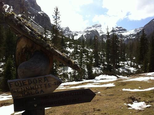 Wegweiser Fojedöra-Hütte (Senneshütte)