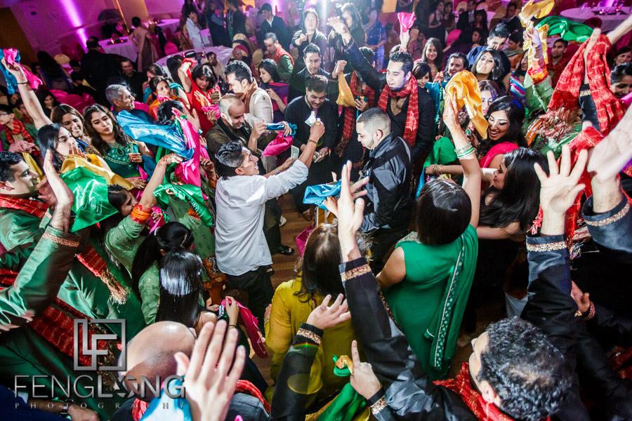 Dance floor during Ismaili Indian wedding Sangeet