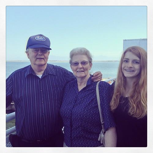 Maddie with Grandpa and Grandma by @MySoDotCom