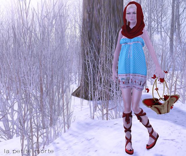 LPM lil red dress ad