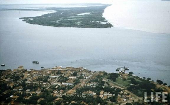 retrovisor. vista aérea de santarém