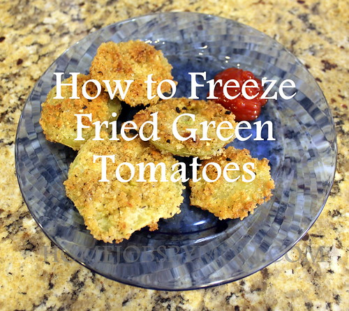 freezing fried green tomatoes