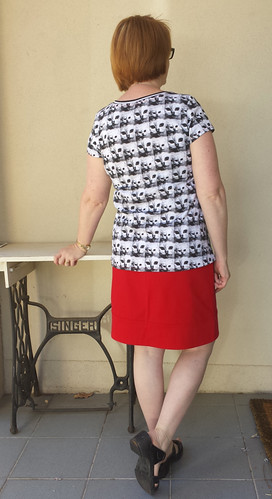 Tessuti Lola tee with Grainline Moss mini