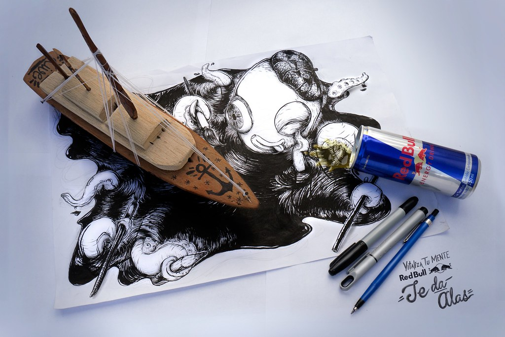 RedBull - Drawing Boat