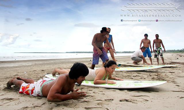 surf lessons in Gubat Bay, Sorsogon