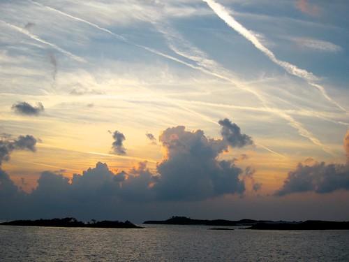 Lined sky