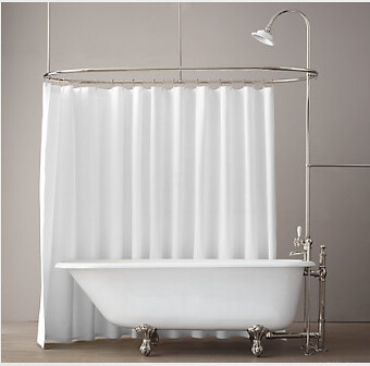 RH Tub with Curtain