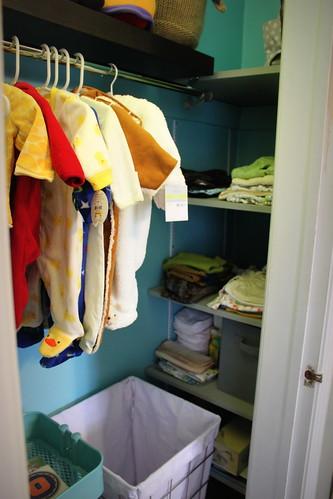 20131123. Finished nursery closet!