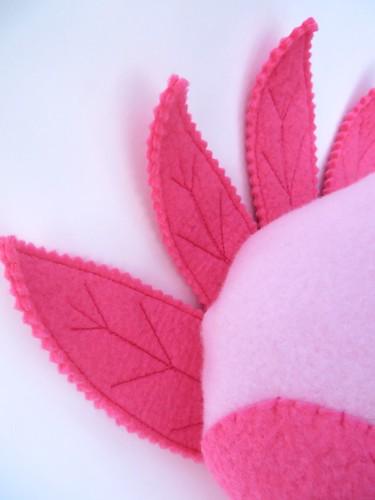 Pink plush turkey detail