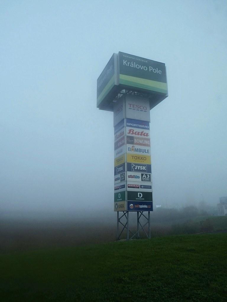 "Commercial ""Obelisk"" in Misty Morning"