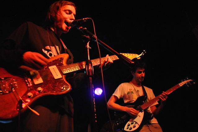 Elsa's Jonathan Rogers (left) and Matthew Goldman (right) playing their band's Toronto EP release show at The Piston on November 21, 2013. Smartboys also released three seven-inch records at the concert. Photo: Tom Beedham