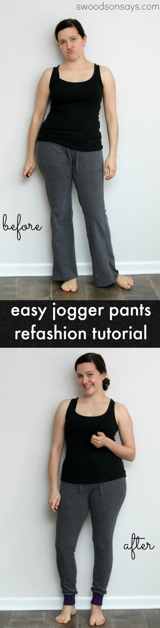 Jogger Pants Refashion