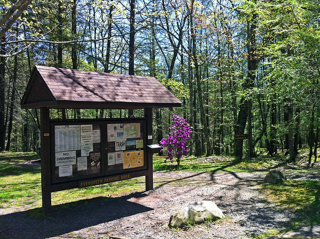 Park maps and other information are available at the kiosk at the Evergreen Trailhead.