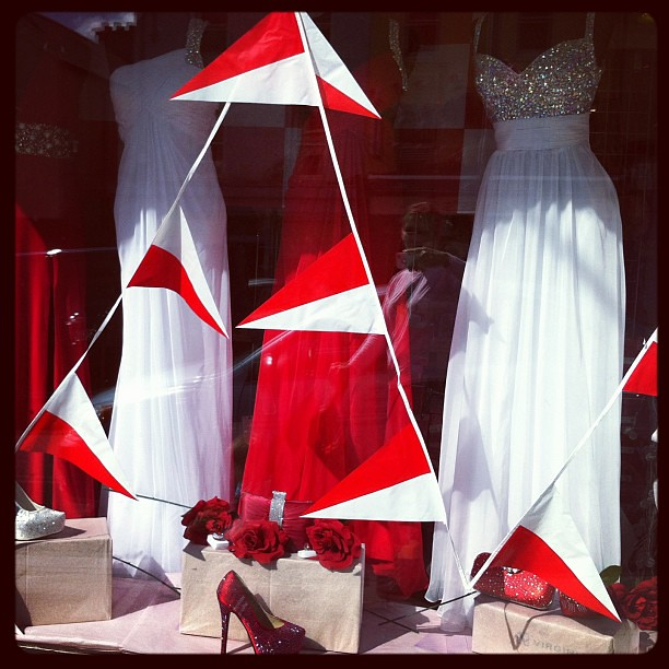 Rebel #red in a shop window on Shandon in #Cork #corcaighabu