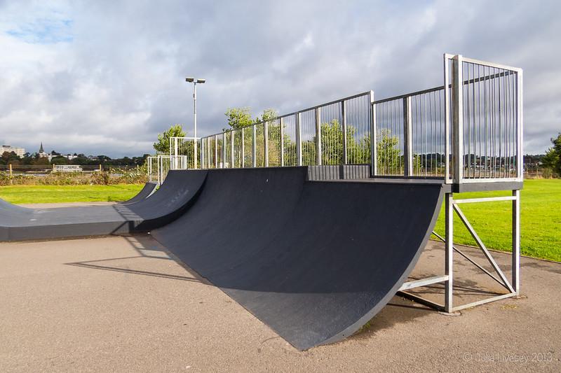 The skateboard park was deserted
