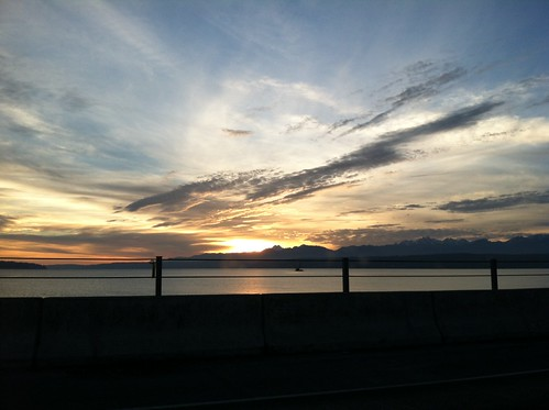 Sunset from the Hood Canal Bridge