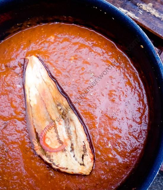 Soupe aux aubergines grillées / Roasted Eggplant Soup