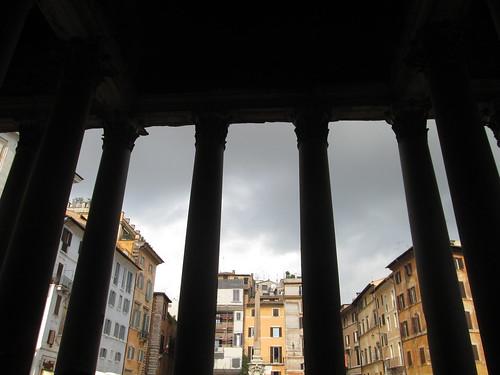Piazza della Rotonda desde el Panteón de Agripa, Roma