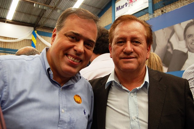 Deputado Paulo Abi-Ackel e prefeito de Itamarandiba, Erildo Gomes