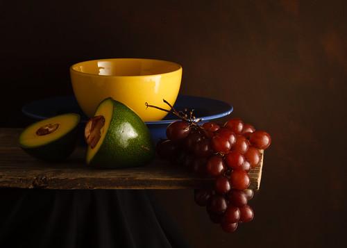 Abacate e uvas by Luiz L.