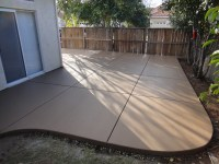 Colored Concrete Patio - Home Design