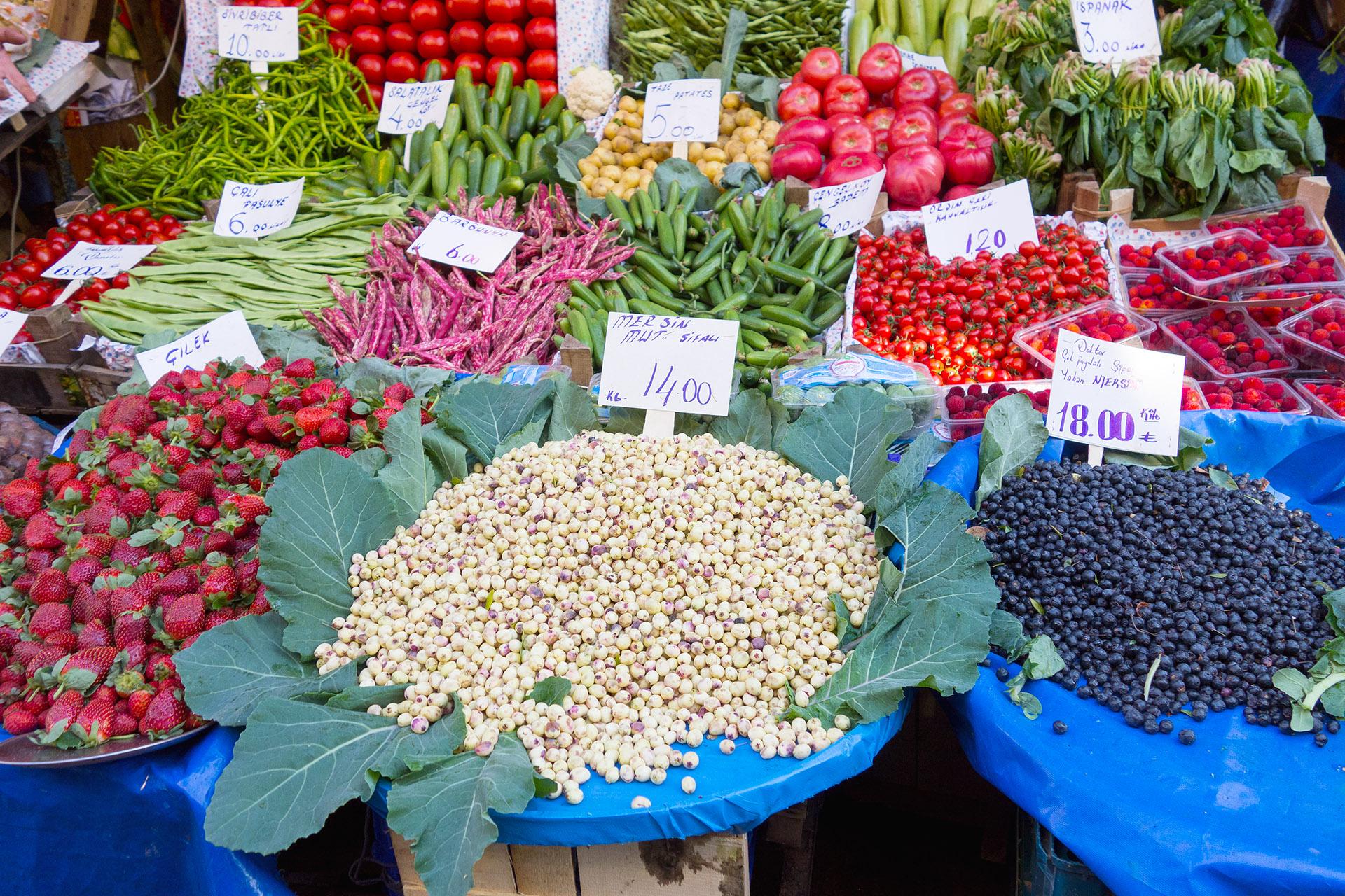 Vegetable vendor, Kadikoy Market.