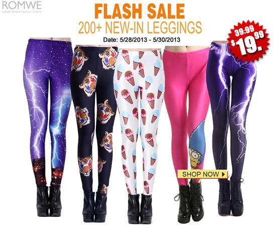 Romwe Leggings Flash Sale