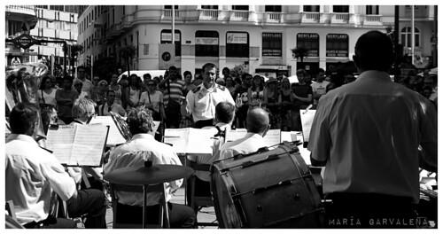 Orquesta tocando en Callao