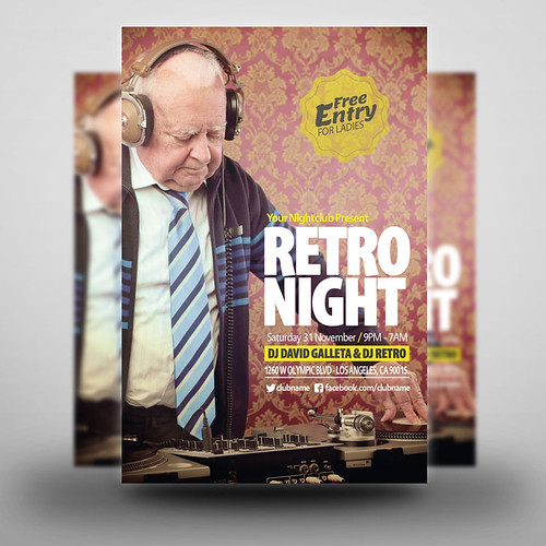 Retro Night Party Flyer 02 Purchase This Tem Here This
