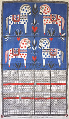 Swedish  Calendar Tea Towel  1963