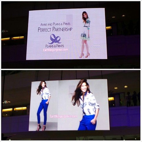 Anne Curtis Plains and Prints Perfect Partnership
