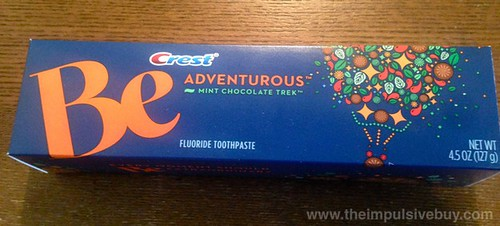 Crest Be Adventurous Mint Chocolate Trek Toothpaste Box